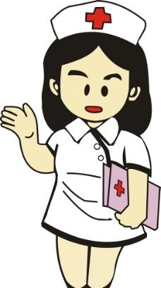 卡通小护士图片