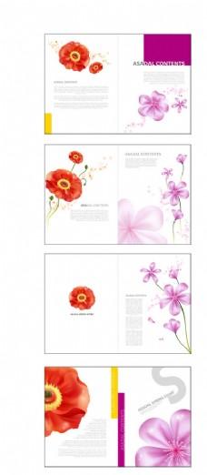 漂亮的花朵主题版式设计矢量素材