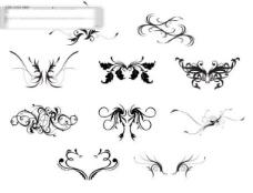 10款经典实用的矢量花纹素材