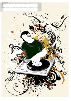DJ潮流矢量图