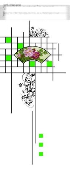 牡丹花纹窗格玻璃移门