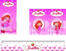 粉红草莓女生图片