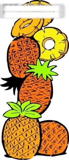 水果菠萝菠萝片