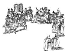 线条皇帝图图片