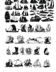 矢量帆船圖片