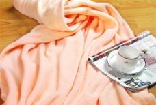 精美毛毯室内摄影图片