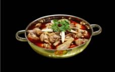 全鹅宴红汤火锅图片