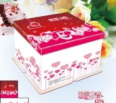 浪漫之恋蛋糕盒图片
