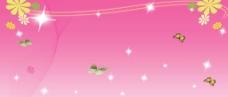 粉红背景蝴蝶图片