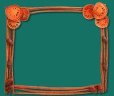 柑橘边框素材图片