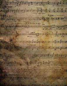 残旧的曲谱图片
