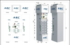 ABC單面包柱圖片